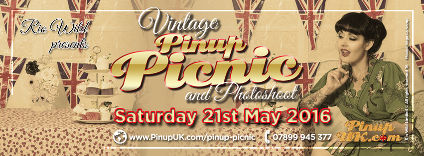 Facebook Banner Vintage Picnic 2016 PinupUK.com Pinup UK Miss Pinup UK Lulu Vesper Dolly Daydream Rio Wild Lady Lolly Rouge Miss Buxom Beauty Mz Bones Miss Bones Vintage hair and makeup Faye Booth Rebecca Rose Robinson Entourage Hair extensions Vega La Vamp pinup girls photography
