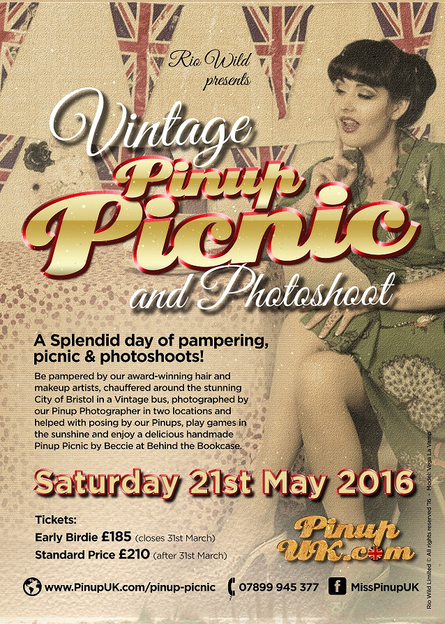 Vintage Picnic 2016 PinupUK.com Pinup UK Miss Pinup UK Lulu Vesper Dolly Daydream Rio Wild Lady Lolly Rouge Miss Buxom Beauty Mz Bones Miss Bones Vintage hair and makeup Faye Booth Rebecca Rose Robinson Entourage Hair extensions Vega La Vamp pinup girls photography