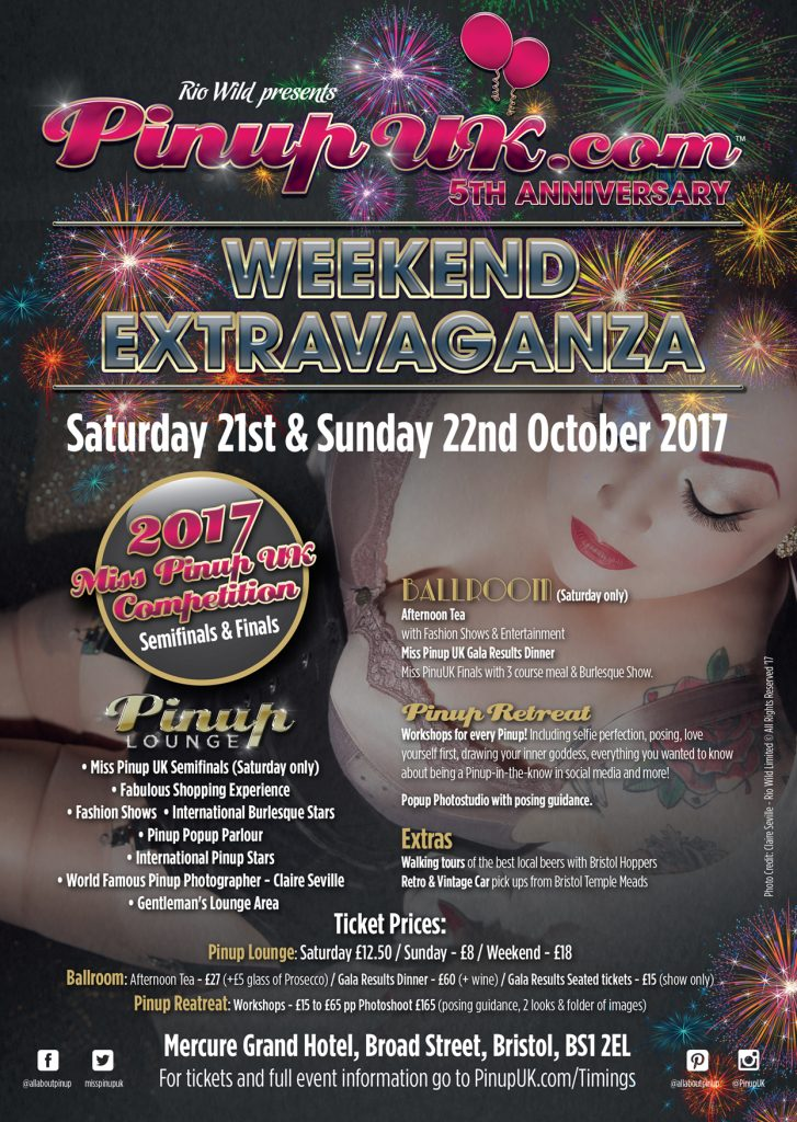 Miss Pinup UK Pinup UK weekend extravaganza mercure bristol grand hotel domino barbeau jeanie wishes Miss cherry bomb rio wild Pin Up contest
